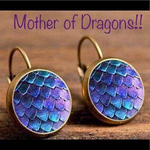 Jewelry - Arrived!! GOT Purple Dragon Scale Earrings!!